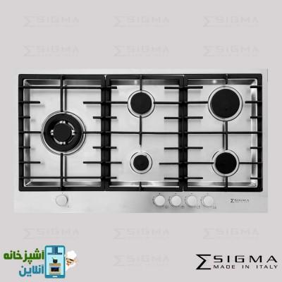 گاز رومیزی 5 شعله زیگما فیلو | Sigma hobMU Filo 5G Side 90